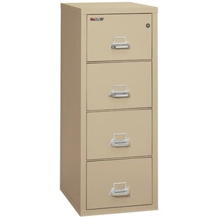 Read Reviews Fireproof 4-Drawer Vertical File Cabinet by FireKing