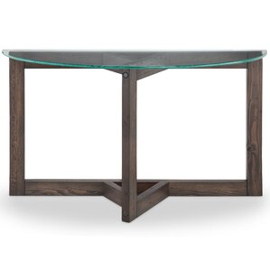 Union Rustic Sharleen Demilune Console Table