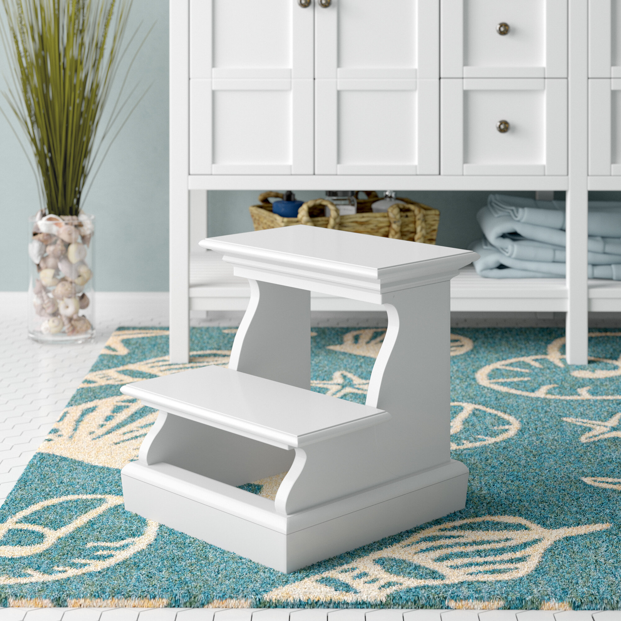 Beachcrest Home Sroda 2 Step Wood Bed Stool With 200 Lb Load Capacity Reviews Wayfair