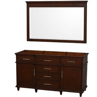 Berkeley 59 Double Bathroom Vanity Base by Wyndham Collection