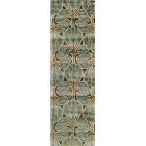Allen Hand Tufted Teal Area Rug