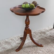 Barron Hand Carved Wooden End Table by Astoria Grand