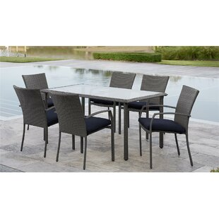Edwards 7 Piece Dining Set with Cushion