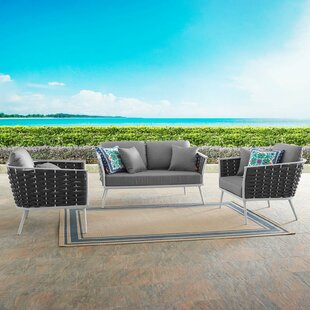 Rossville 3 Piece Sofa Seating Group With Cushions by Ivy Bronx Purchase