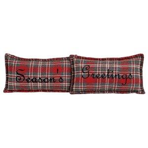 Chamblee 2 Piece Season's Greetings Lumbar Pillow Set