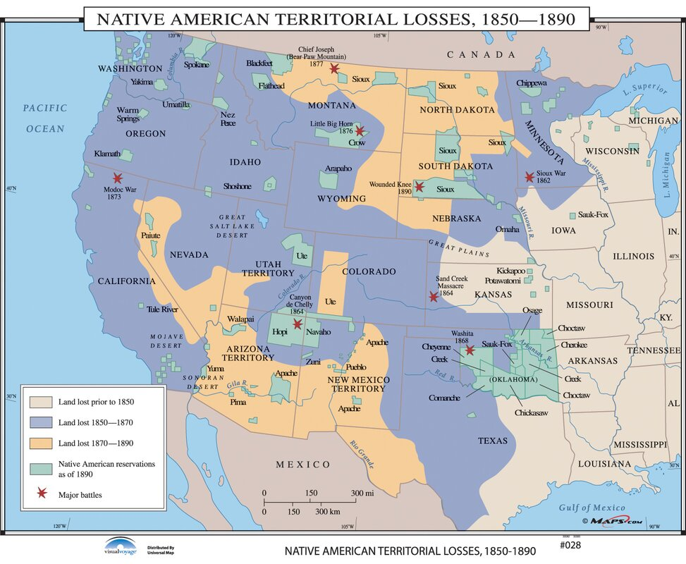Universal map us history wall maps native american territorial us history wall maps native american territorial losses gumiabroncs Choice Image