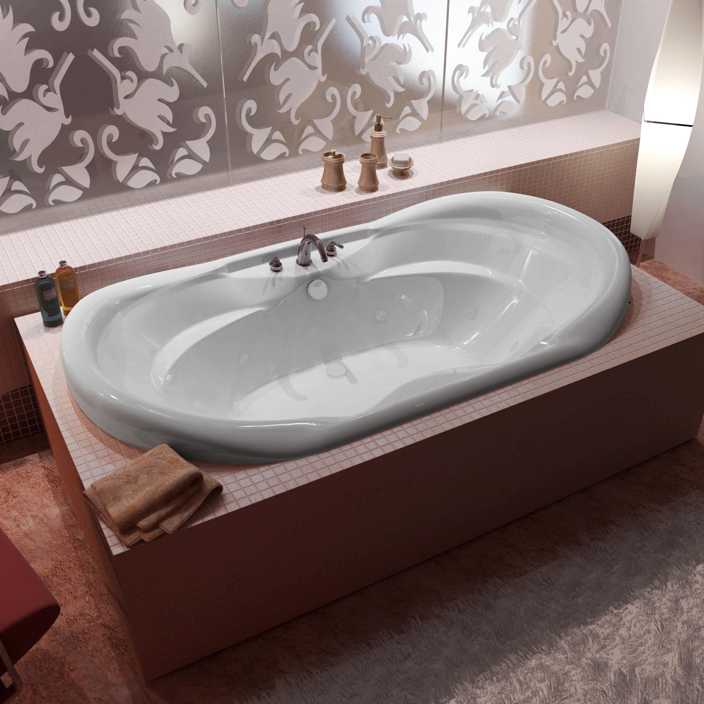 Spa Escapes Antigua 71 X 41 Whirlpool Bathtub With Center Drain Wayfair