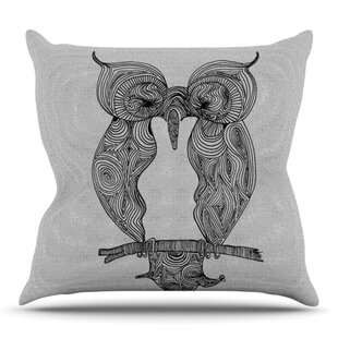 Owl By Belinda Gillies Outdoor Throw Pillow by East Urban Home
