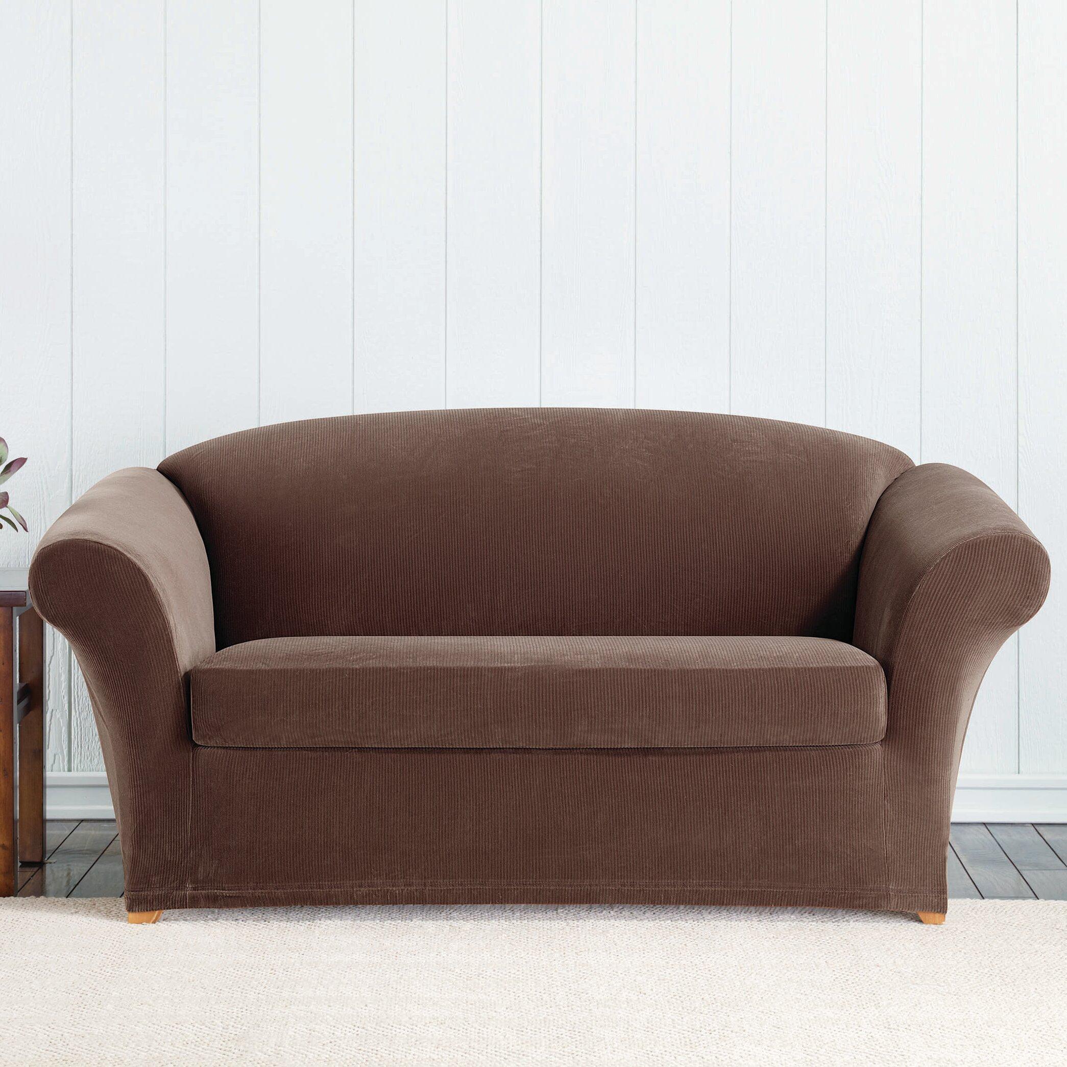 Strange Sure Fit Stretch Corduroy Box Cushion Loveseat Slipcover Creativecarmelina Interior Chair Design Creativecarmelinacom