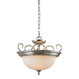 Fleur De Lis Living Pearlie 2-Light Bowl Pendant