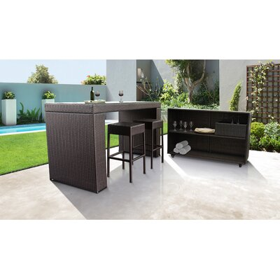 Fernando 5 Piece Bar Set by Sol 72 Outdoor Best #1