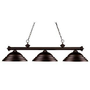 Red Barrel Studio Zephyr 3-Light Bell Shade Billiard Light with Hanging Chain