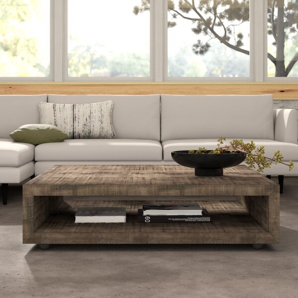 Eamon Square Coffee Table With Casters