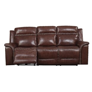 Ruvalcaba Leather Reclining Sofa by Charlton Home