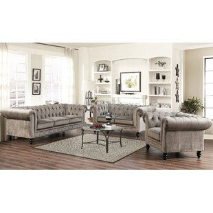 Mistana Brooklyn 3 Piece Living Room Set