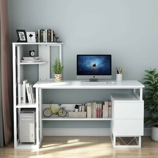 Amalgre Credenza desk with Bookcase
