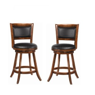 Jackman 24 Swivel Bar Stool (Set of 2) Wildon Home®