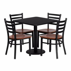 Quinones 5 Piece Dining Set by Red Barrel..