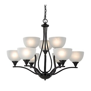 Compare prices Gallimore 9-Light Shaded Chandelier By Darby Home Co