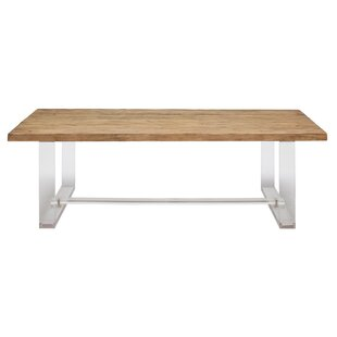 Dellroy Reclaimed Wood and Acrylic Accent Table