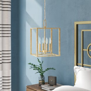 Ozella 4-Light Square/Rectangle Pendant by Everly Quinn