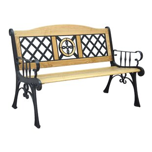 Camelback Iron/Wooden Park Bench
