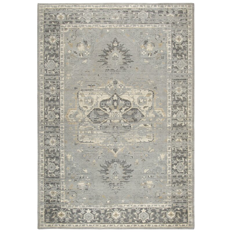 Esmeyer Wool Gray Area Rug