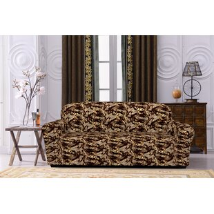 Spandex Stretch Printed Box Cushion Sofa Slipcover
