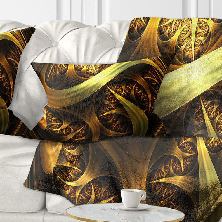 East Urban Home Abstract Fractal Sphere In Dark Lumbar Pillow Wayfair