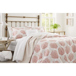 Coral Coast Cotton Reversible Quilt Set by Laura Ashley Home