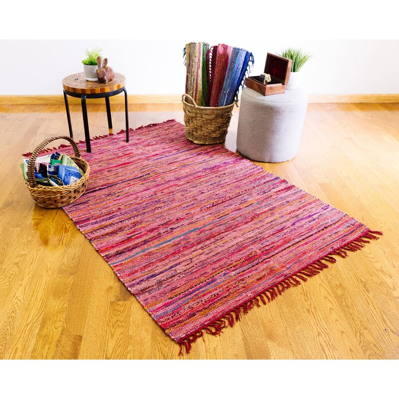 Bungalow Rose Rust Hand Knotted Cotton Area Rug Wayfair
