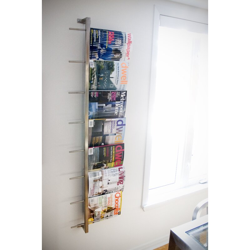 2 Piece Wall Mounted Magazine Rack