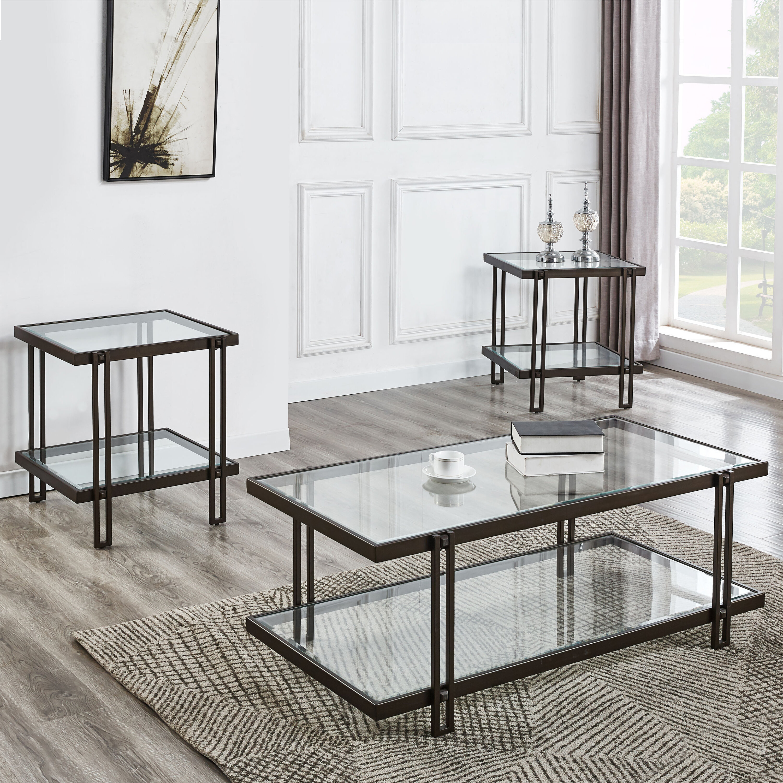 Ebern Designs Alley 3 Piece Coffee Table Set Wayfair