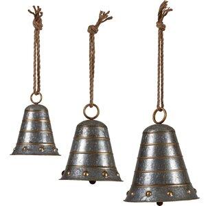 3 Piece Metal Bell Hanging Set