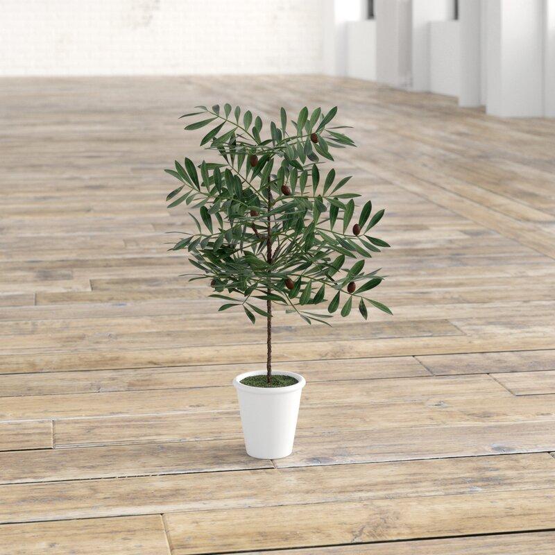 Artificielles Figuier plantes dans le béton pot réaliste en pot Vert Synthétique vertes