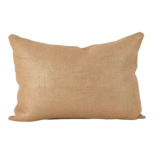 Laurel Metallic Foiled Burlap Lumbar Pillow