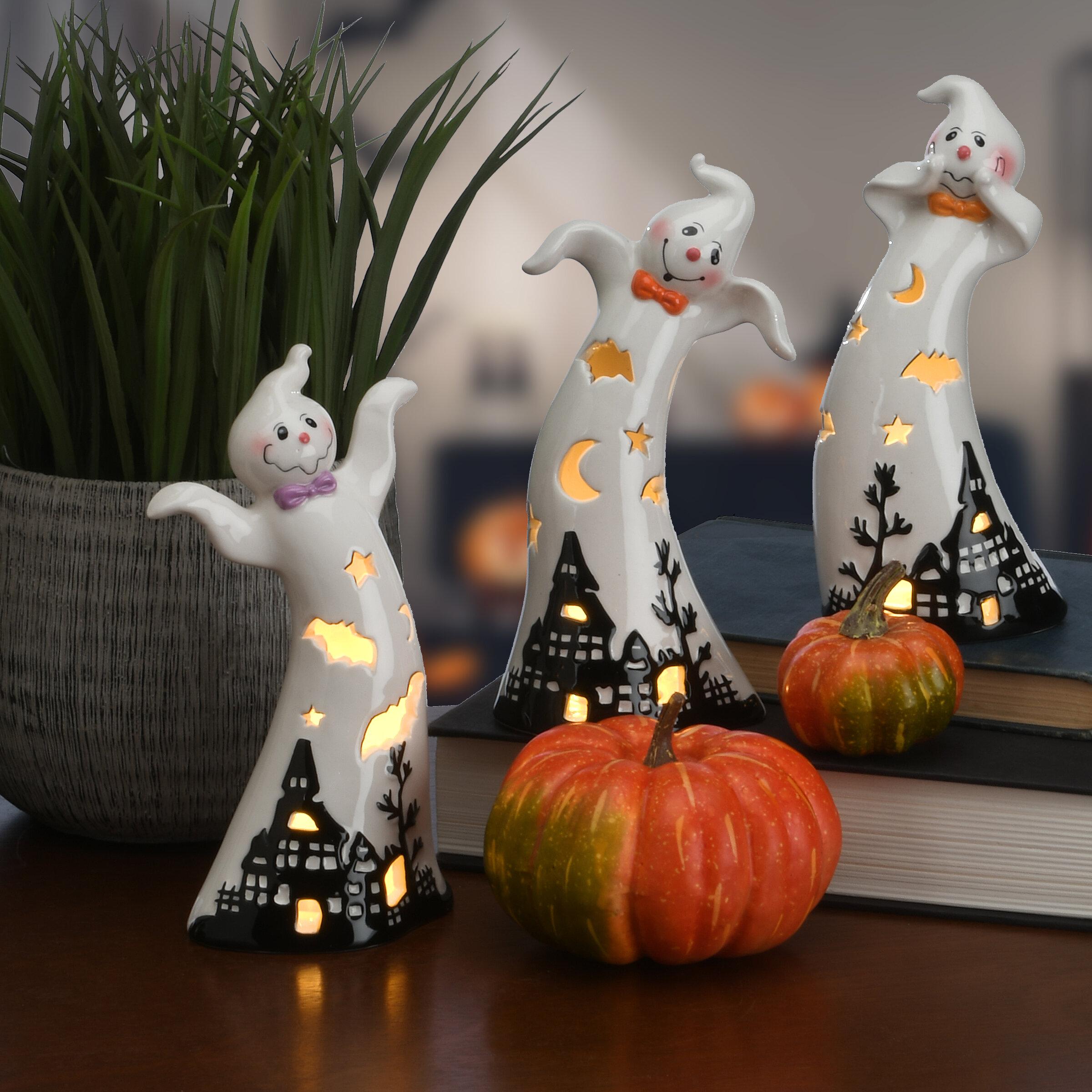 The Holiday Aisle® 3 Piece Halloween Ghosts Set & Reviews | Wayfair
