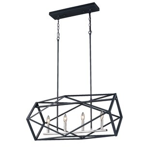 Dayse 4-Light Geometric Chandelier by Wrought Studio