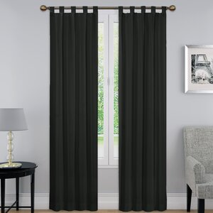 Montana Solid Room Darkening Thermal Tab Top Curtain Panels (Set of 2)