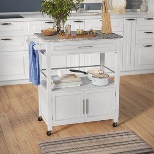 Snow Kitchen Island with Granite Top by Andover Mills