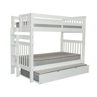 Treva Tall Twin over Twin Bunk Bed with Trundle