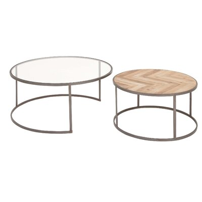 Orkney Contemporary Round 2 Piece Coffee Table Set  sc 1 st  Wayfair & 17 Stories Stephene Modern 2-Tiered Square Coffee Table \u0026 Reviews ...