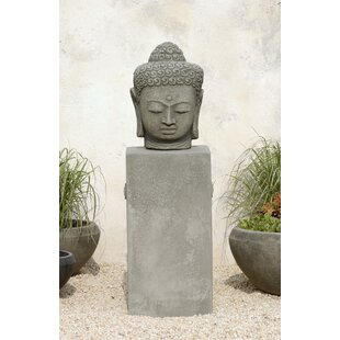 Campania International Antique Buddha Head Statue