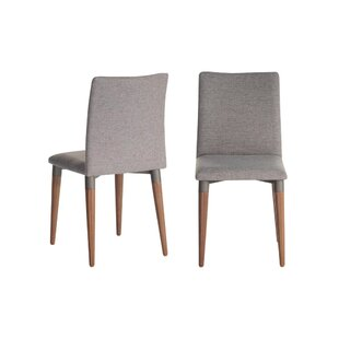 Tasker Upholstered Dining Chair (Set of 2) Union Rustic