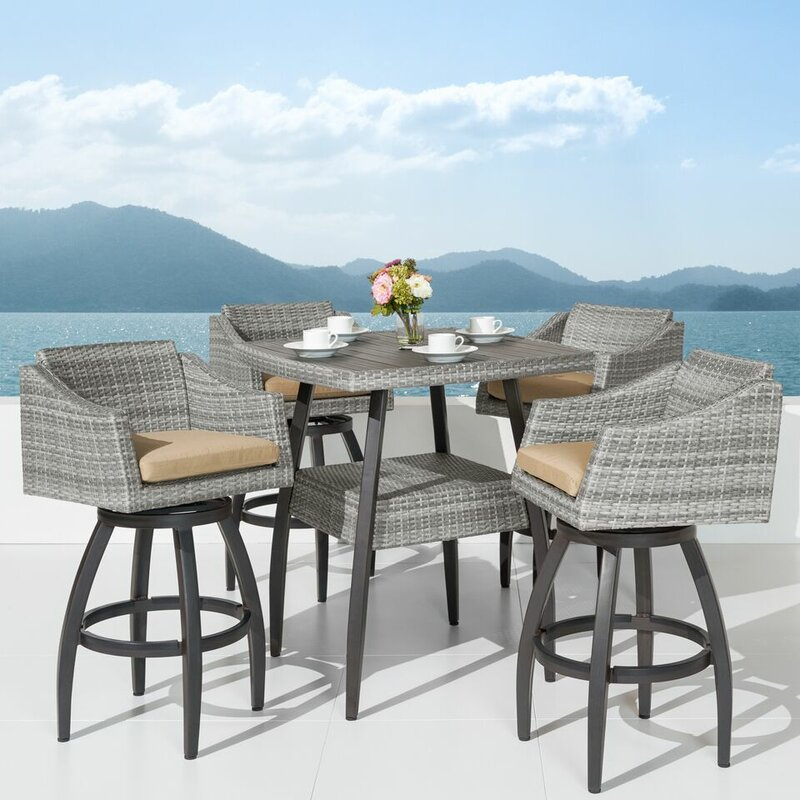 Wade Logan Castelli 5 Piece Bar Height Dining Set & Reviews | Wayfair