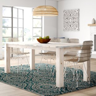 Abella 4 Post Extendable Solid Wood Dining Table Loon Peak