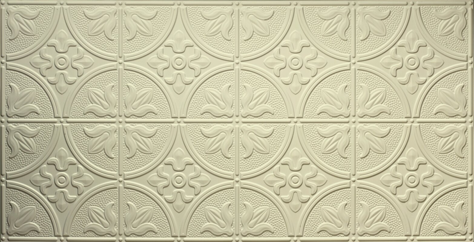 Global specialty products traditional 2 ft x 4 ft glue up ceiling glue up ceiling tile in cream dailygadgetfo Choice Image