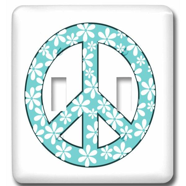 3drose Daisy Peace Sign 2 Gang Toggle Light Switch Wall Plate Wayfair