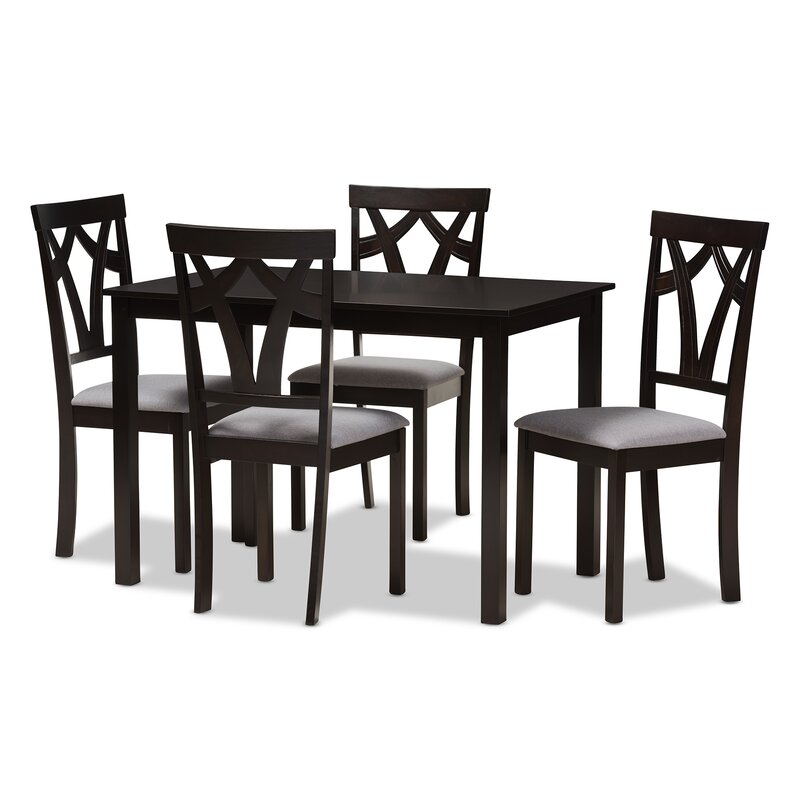 Commodore Singh Modern And Contemporary 5 Piece Breakfast Nook Dining Set