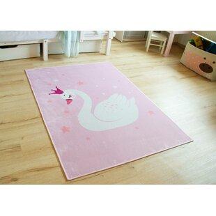 Sharlene Flatweave Pink Rug By Zoomie Kids